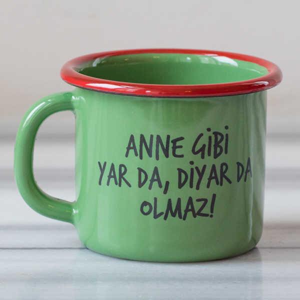 Anne Gibi Yar Emaye Kupa - Yeşil