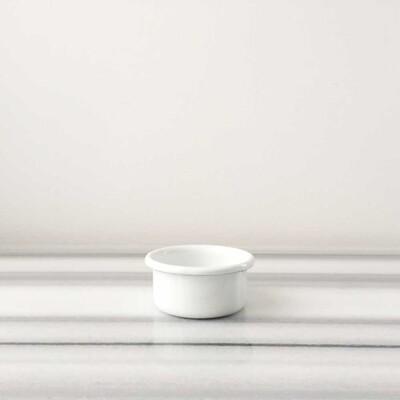 Beyaz Emaye Mini Kase - Thumbnail