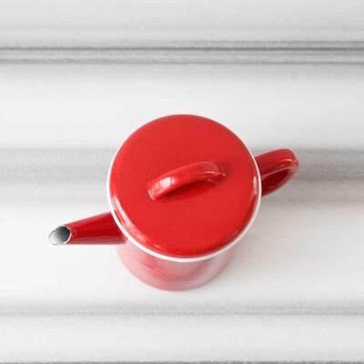 Kırmızı Emaye Demlik - Thumbnail
