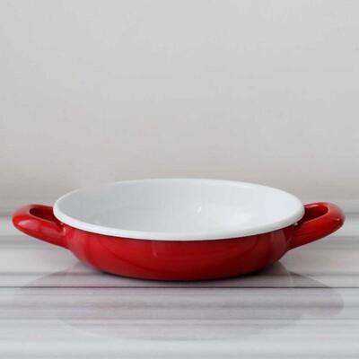 Kırmızı Emaye Kahvaltı Seti - Thumbnail
