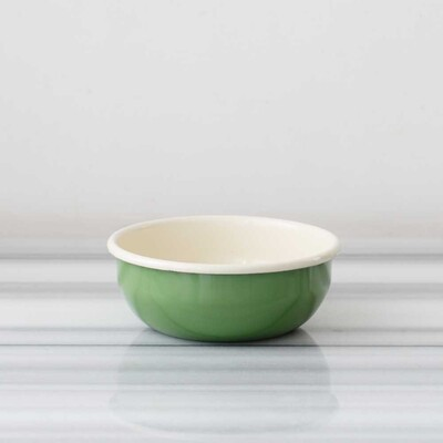 Yeşil Emaye Orta Kase - Thumbnail