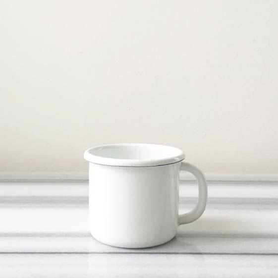 Beyaz Emaye Kupa