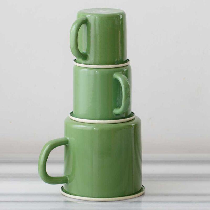 Yeşil Emaye Kocaman Kupa