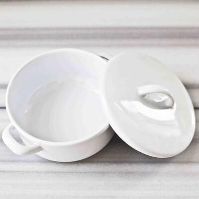 Beyaz Emaye Tencere Seti - Thumbnail