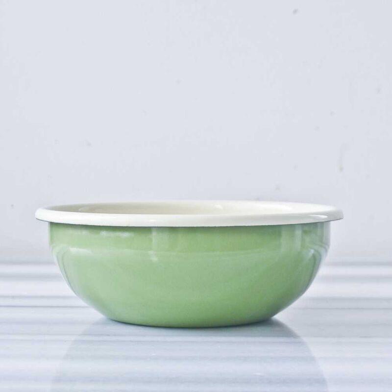 Yeşil Emaye Kase