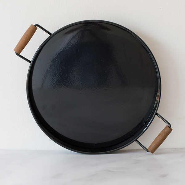 Galvaniz Büyük Siyah Tepsi