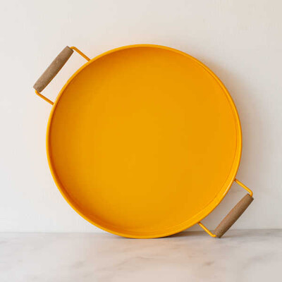 Galvaniz Küçük Sarı Tepsi - Thumbnail