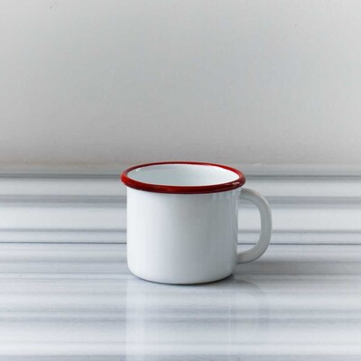 Kırmızı Emaye İki Kişilik Çay & Kahve Seti - Thumbnail