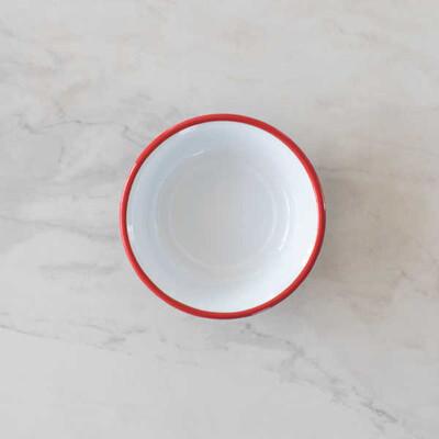 Kırmızı Emaye Kase - 22 cm. - Thumbnail