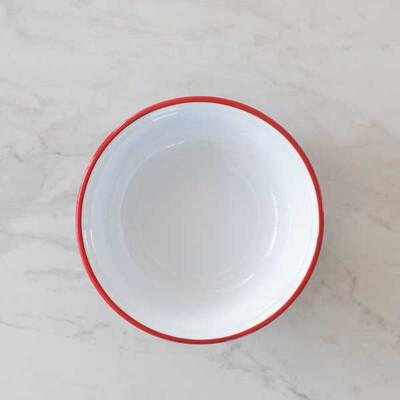 Kırmızı Emaye Kase - 32 cm. - Thumbnail