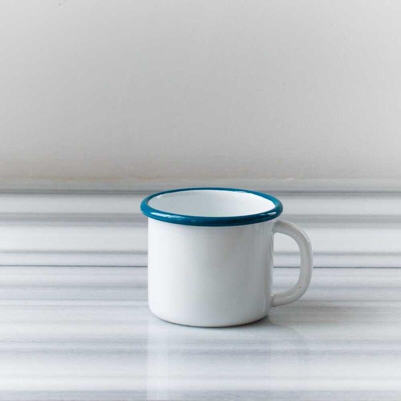Mavi Emaye İki Kişilik Çay&Kahve Seti