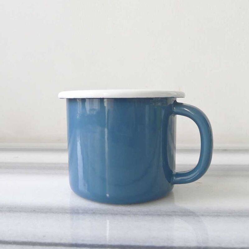 Mavi Emaye Kahvaltı Seti