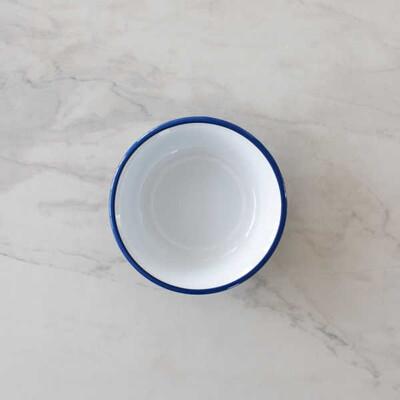 Mavi Emaye Kase - 22 cm. - Thumbnail