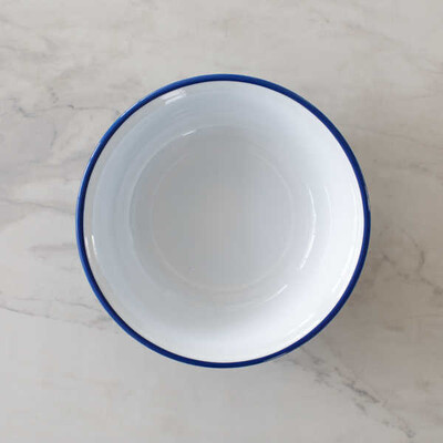 Mavi Emaye Kase - 32 cm. - Thumbnail