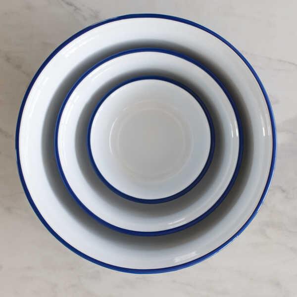 Mavi Emaye Kase - 32 cm.