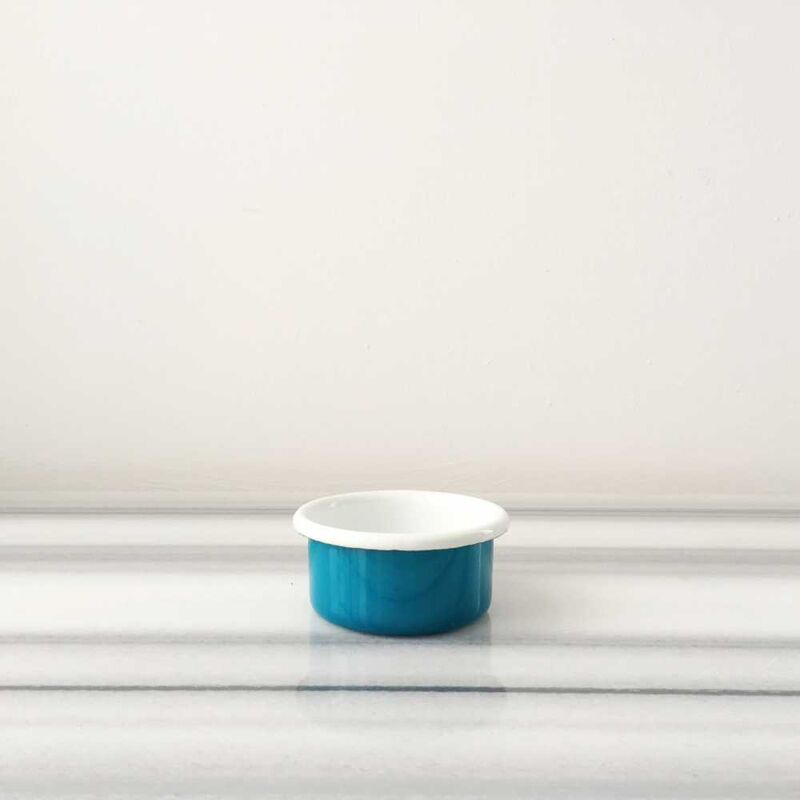 Mavi Emaye Mini Kase