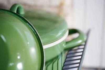 Yeşil Orta Emaye Tencere - Thumbnail