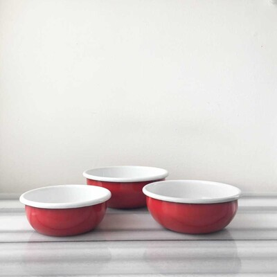 Üçlü Kırmızı Kase Seti - Thumbnail