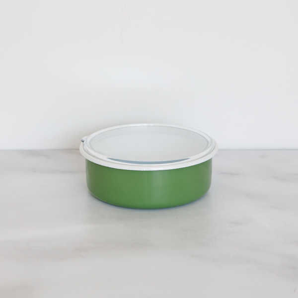 Yeşil 3'lü Sakla, Pişir, Sun, Ye Kapları
