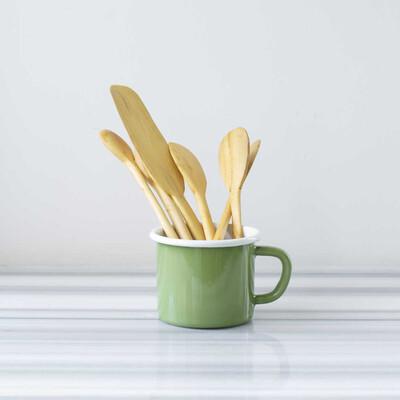 Yeşil Kocaman Kupalı Şimşir Yemek Hazırlama Seti - Thumbnail