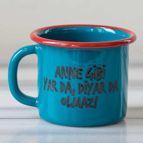 Anne Gibi Yar Emaye Kupa - Mavi