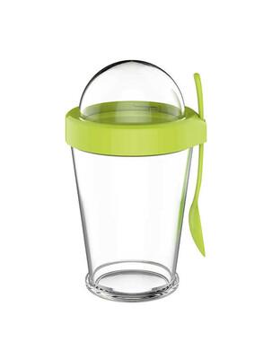 Cam Atıştırmalık Saklama Kabı - Yeşil - Thumbnail