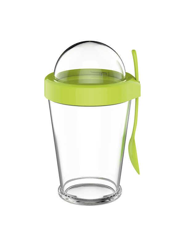 Cam Atıştırmalık Saklama Kabı - Yeşil