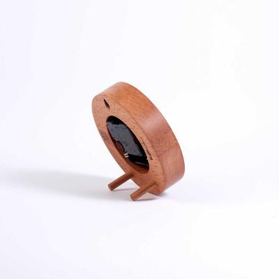 Dekoratif Çatal-Bıçaklı Ahşap Saat | 13 cm - Thumbnail