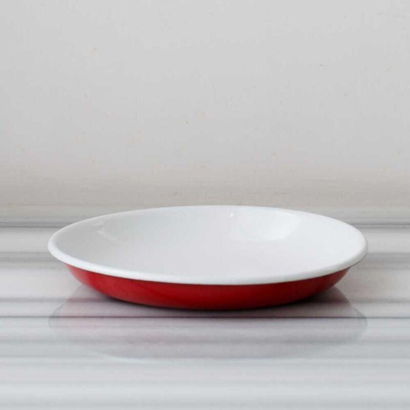 Kırmızı Emaye Kahvaltı Seti