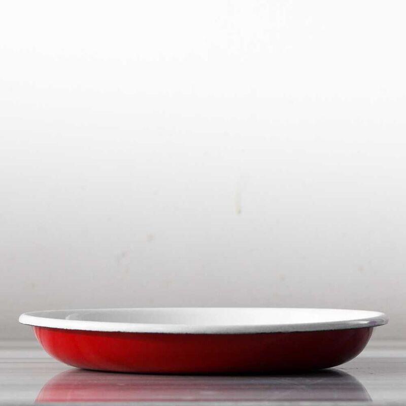 Kırmızı Emaye Tabak
