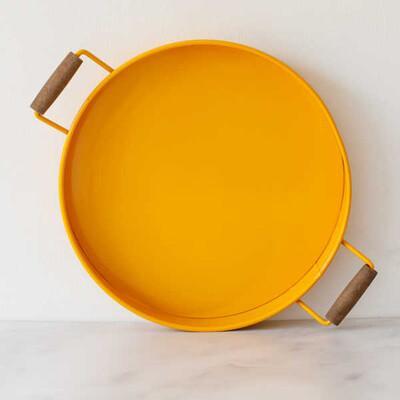 Galvaniz Büyük Sarı Tepsi - Thumbnail