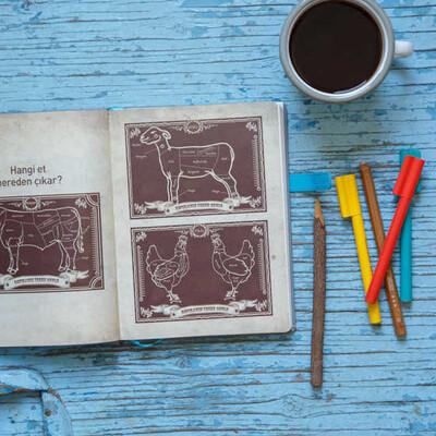 Kahverengi Kapaklı Çizgisiz Akıl Defteri - Thumbnail