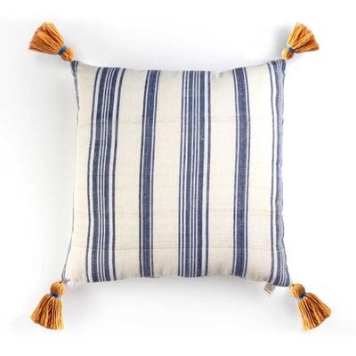 Kandıra Keten Bezi Lacivert Çizgili Yastık | 40 cm - Thumbnail