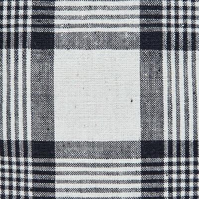 Kandıra Keten Bezi Büyük Çizgili Ekose Kırlent | 50 x 35 cm. - Thumbnail
