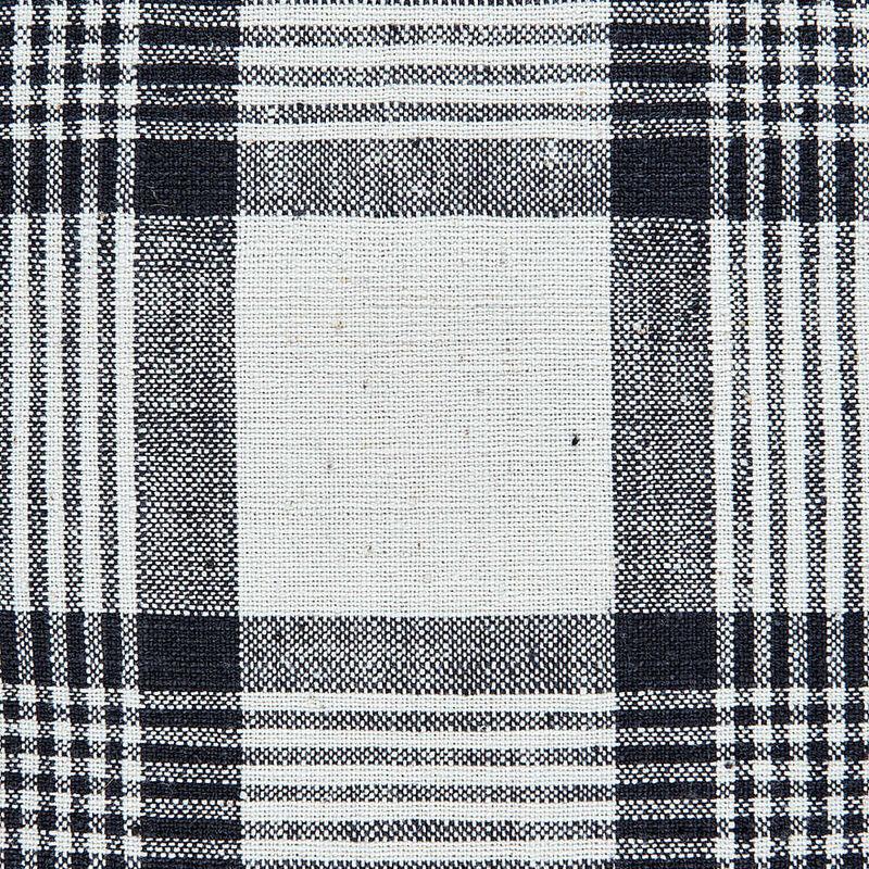 Kandıra Keten Bezi Büyük Çizgili Ekose Kırlent | 50 x 35 cm.