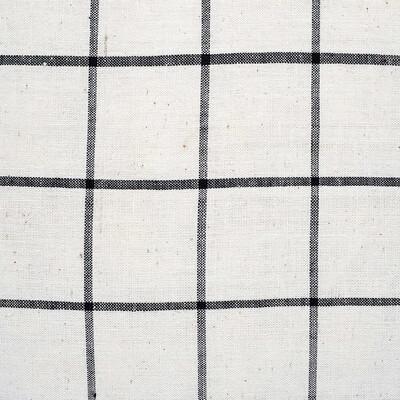 Kandıra Keten Bezi Tek Çizgili Ekose Kırlent | 40 x 40 cm. - Thumbnail