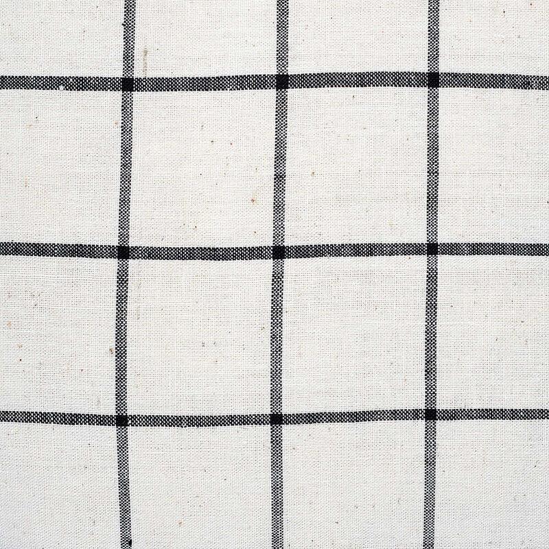 Kandıra Keten Bezi Tek Çizgili Ekose Kırlent | 40 x 40 cm.