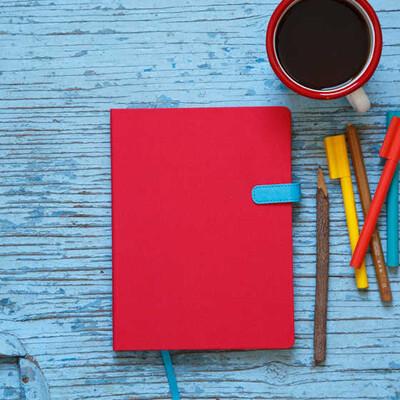 Kırmızı Kapaklı Çizgisiz Akıl Defteri - Thumbnail