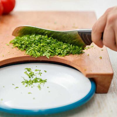 Mutfağın Vazgeçilmezi Şef Bıçağı ve Kesme Tahtası Seti - Thumbnail