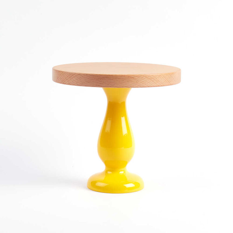 Sarı Ayaklı Kek Standı - 20 x 19 cm
