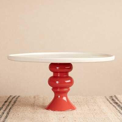 Seramik Tabaklı Kırmızı Sunum Standı | 30 cm - Thumbnail