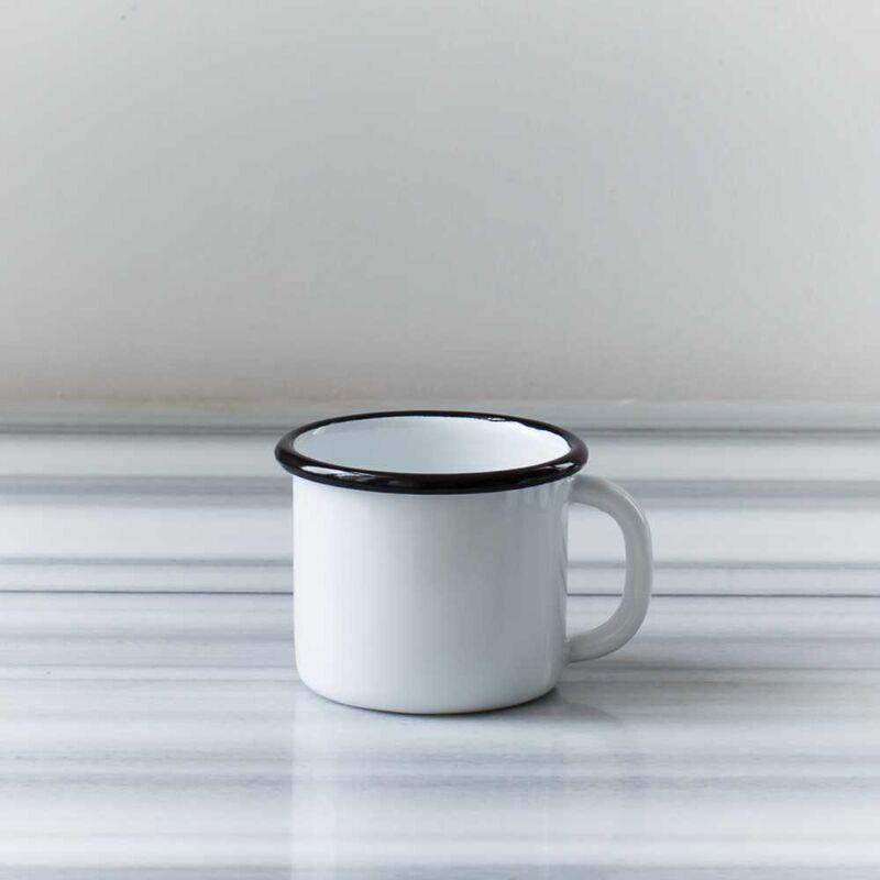 Siyah Emaye Tek Kişilik Çay & Kahve Seti