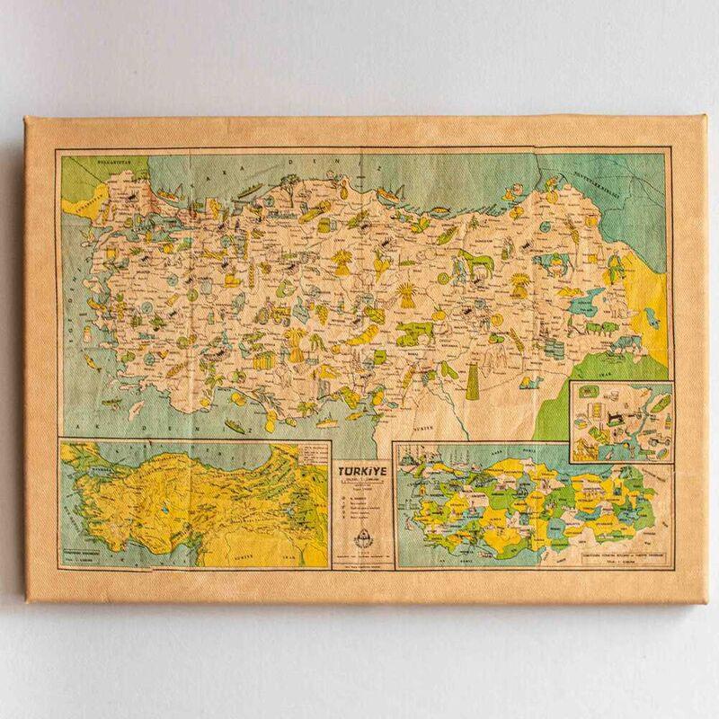 Türkiye'nin Yerli Malı Haritası | Kanvas Tablo