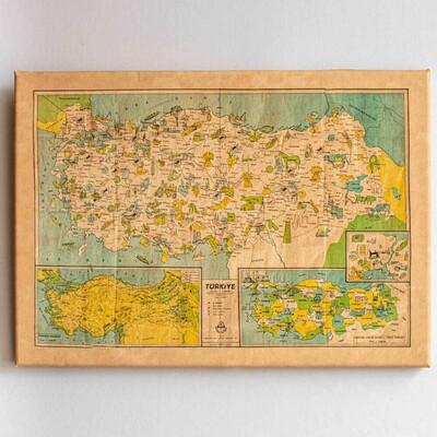 Türkiye'nin Yerli Malı Haritası   Kanvas Tablo - Thumbnail