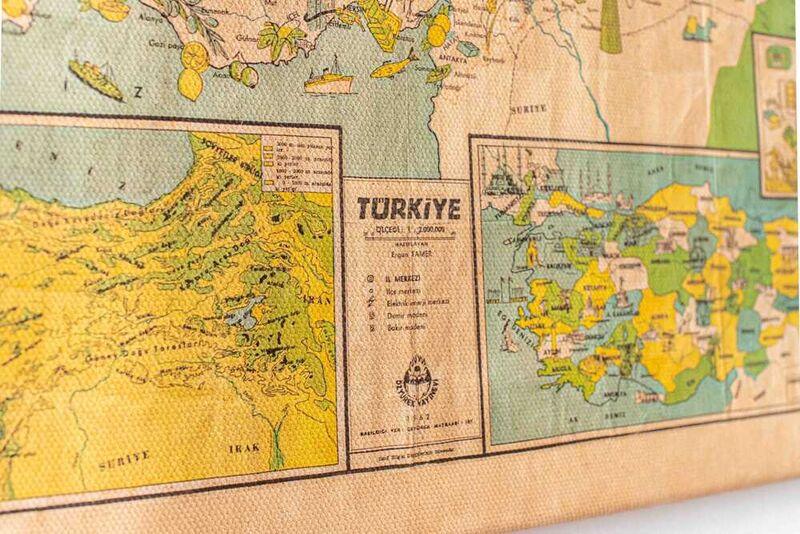 Türkiye'nin Yerli Malı Haritası   Kanvas Tablo