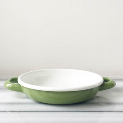 Yeşil Emaye Kahvaltı Seti - Thumbnail