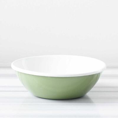 Yeşil Emaye Salata Kasesi - Thumbnail