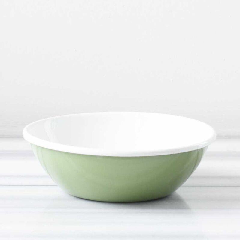 Yeşil Emaye Salata Kasesi