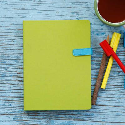 Yeşil Kapaklı Çizgisiz Akıl Defteri - Thumbnail